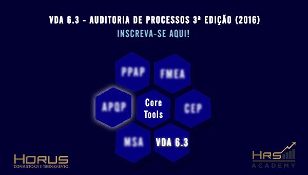 VDA 6.3 Auditoria de Processos | Mentoria Empresarial (Grupos a partir de 5 pessoas)